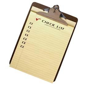 trade show check list