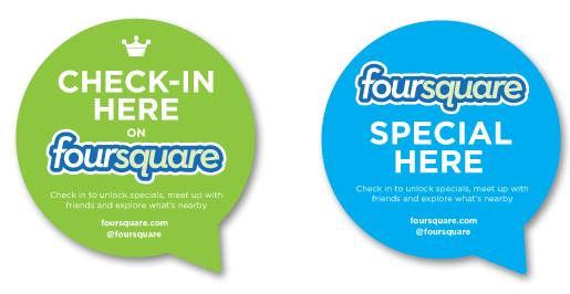 Foursquare Stickers for Local Businesses