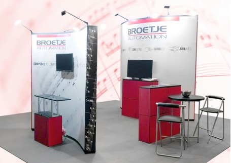 A great example of a trade show booth rental